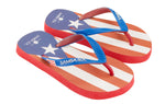 Samba Sol Kid's Countries Collection Flip Flops - Puerto Rico