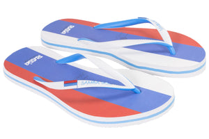 Men's Flag Collection Flip Flops - Russia