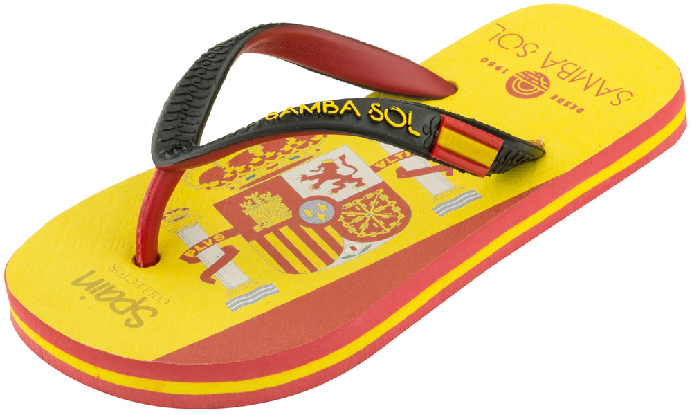 Samba Sol Kid's Counties Collection Flip Flops - Spain-Samba Sol