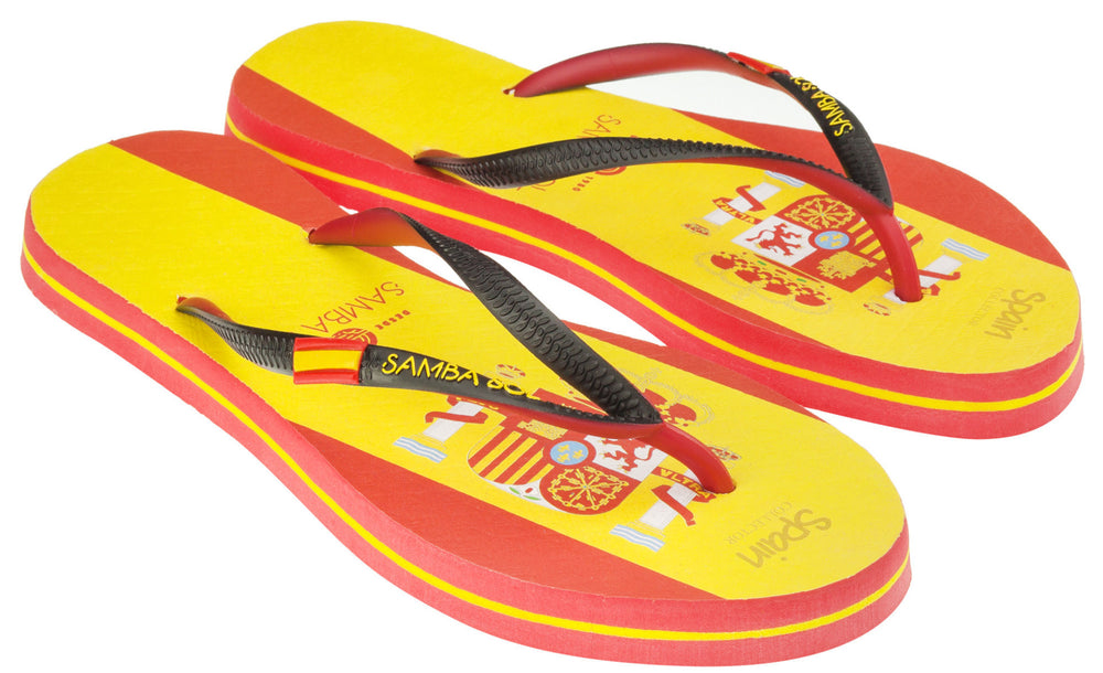 Samba Sol Women's Countries Collection Flip Flops - Spain