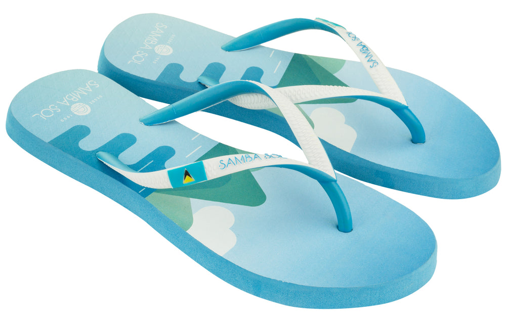 Women's Flag Collection Flip Flop - St Lucia