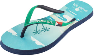 Women's Flag Collection Flip Flops - St Martin