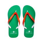 Samba Sol Men's Beach Collection Flip Flops - UM University of Miami