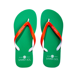 Men's Beach Collection Flip Flops - UM Green/Orange