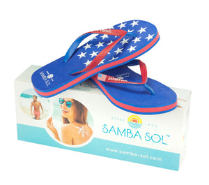 Samba Sol Kid's Countries Collection Flip Flops - USA 1-Samba Sol