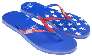 Samba Sol Women's Countries Collection Flip Flop - USA 1-Samba Sol
