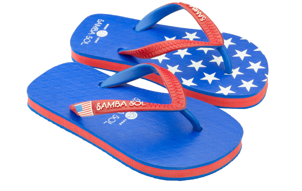 Kid's Flag Collection Flip Flops - USA 1