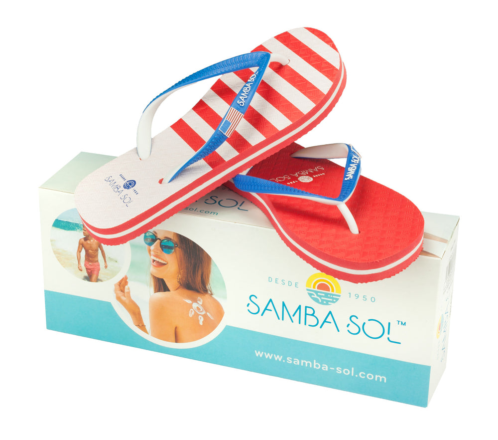 Samba Sol Kid's Countries Collection Flip Flop - USA 2-Samba Sol