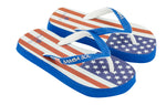 Samba Sol Kid's Countries Collection Flip Flops - USA