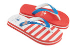 Samba Sol Kid's Countries Collection Flip Flops - USA 2