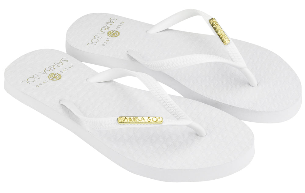 Women's Beach Collection Flip Flops - Classic White