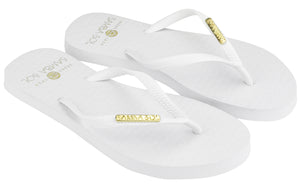 Samba Sol Women's Fashion Collection Flip Flops - Classic White-Samba Sol