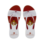 Samba Sol Women's Countries Collection Flip Flops - Monte Carlo
