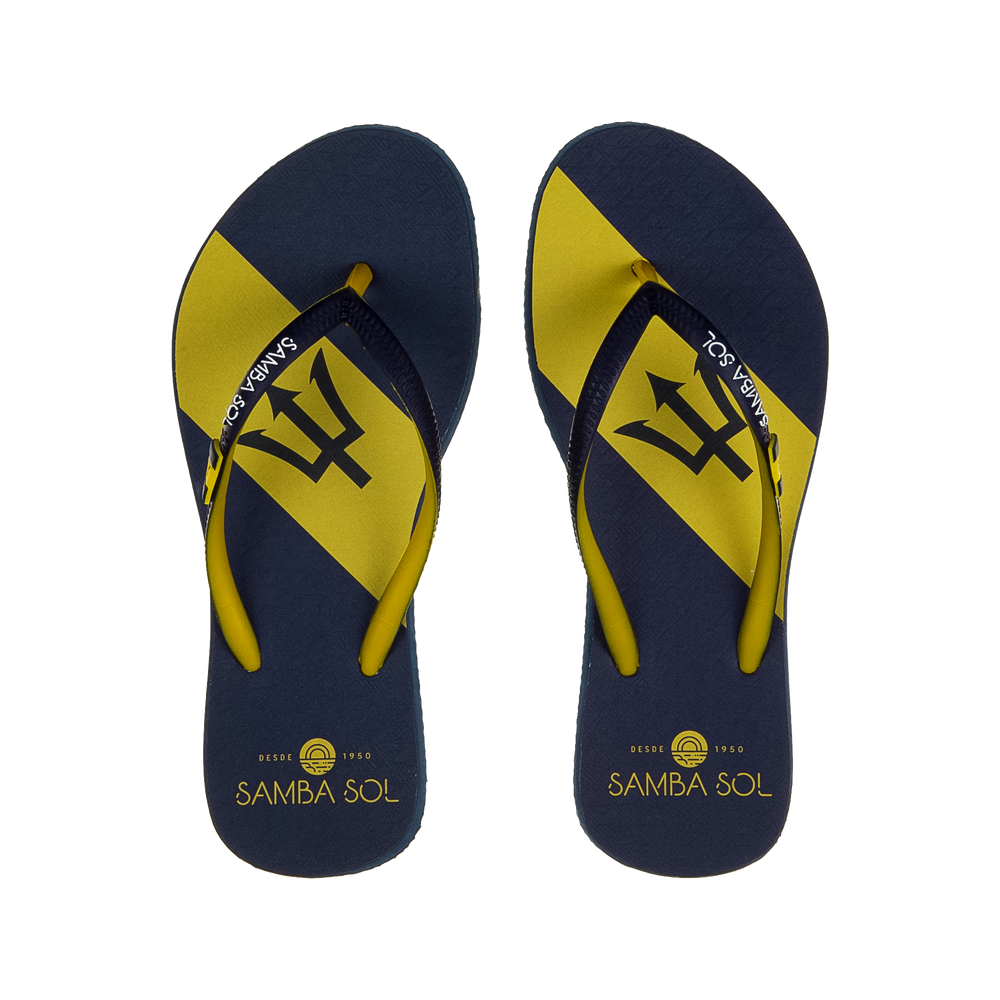 Samba Sol Women's Countries Collection Flip Flops - Barbados
