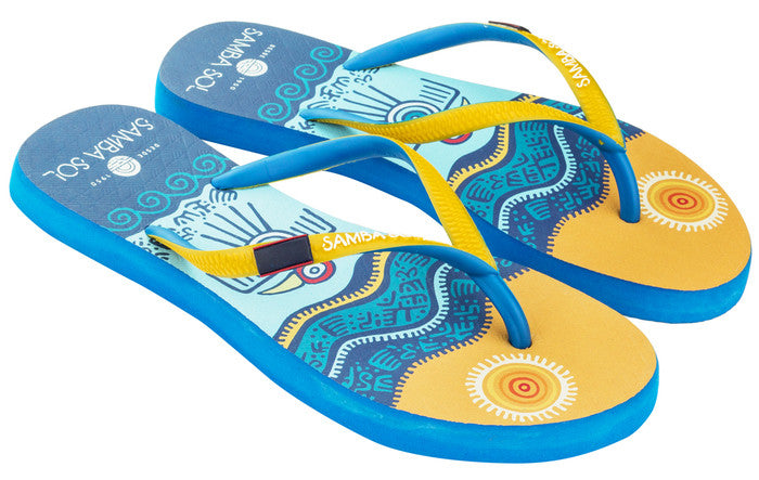 Samba Sol Women's Countries Collection Flip Flop - Belize
