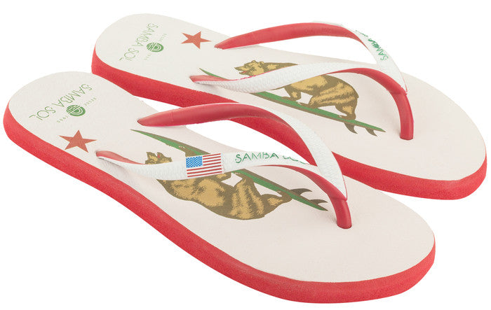 Women's Beach Collection Flip Flops - California Bear