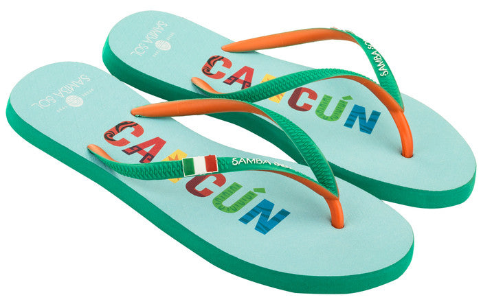 Women's Flag Collection Flip Flops - Cancun