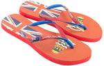 Samba Sol Women's Countries Collection Flip Flops - Cayman Islands