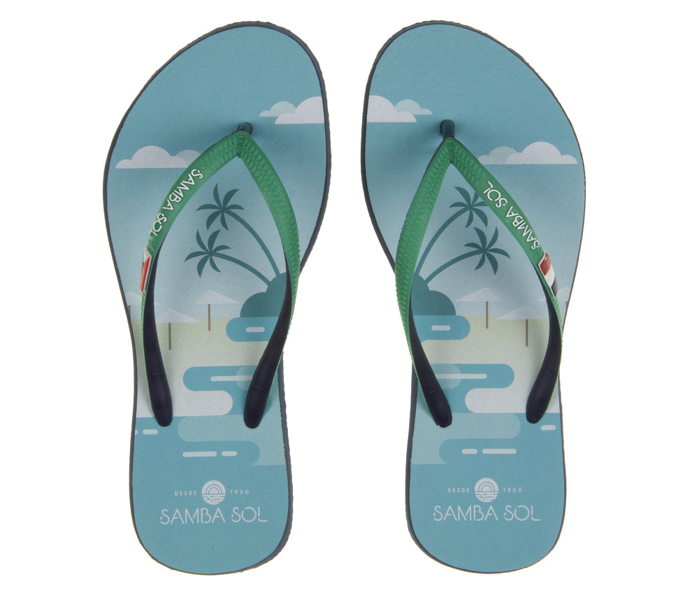 Samba Sol Women's Beach Collection Flip Flops - St Martin-Samba Sol