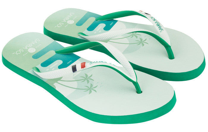 Women's Flag Collection Flip Flops - St Barths