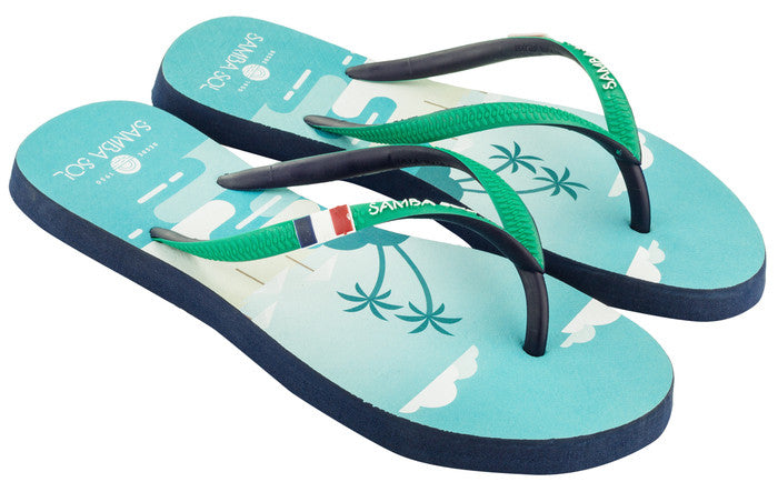 Samba Sol Women's Beach Collection Flip Flops - St Martin