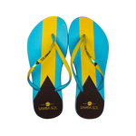 Samba Sol Women's Countries Collection Flip Flops - Bahamas