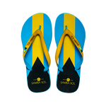 Samba Sol Men's Countries Collection Flip Flops - Bahamas