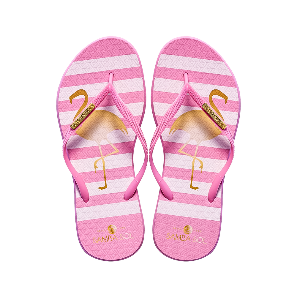 Women's Fashion Collection Flip Flops - Flamingo