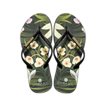 Samba Sol Women's Fashion Collection Flip Flops - Flowers