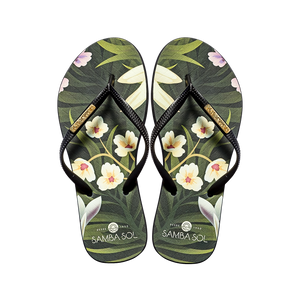 Samba Sol Women's Fashion Collection Flip Flops - Flowers-Samba Sol