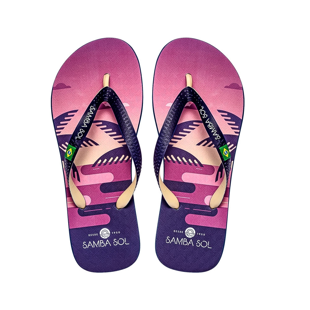 Samba Sol Men's Beach Collection Flip Flops - Copacabana