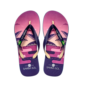 Samba Sol Men's Beach Collection Flip Flops - Copacabana-Samba Sol