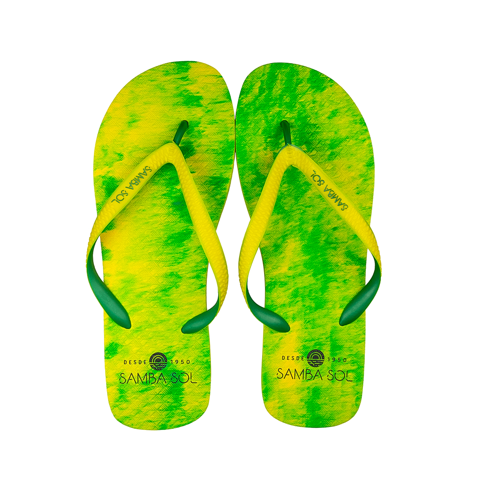 Samba Sol Men's Beach Collection Flip Flops - Lime
