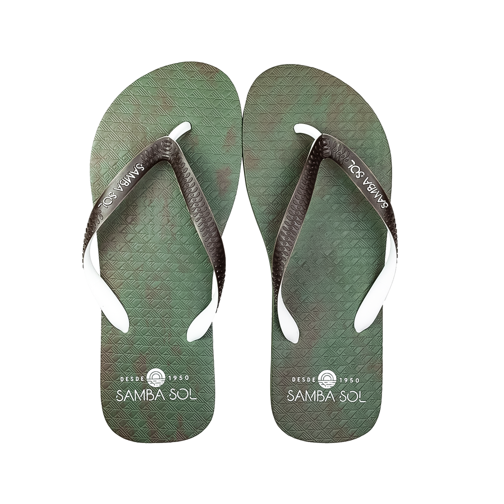 Samba Sol Men's Beach Collection Flip Flops - Camo