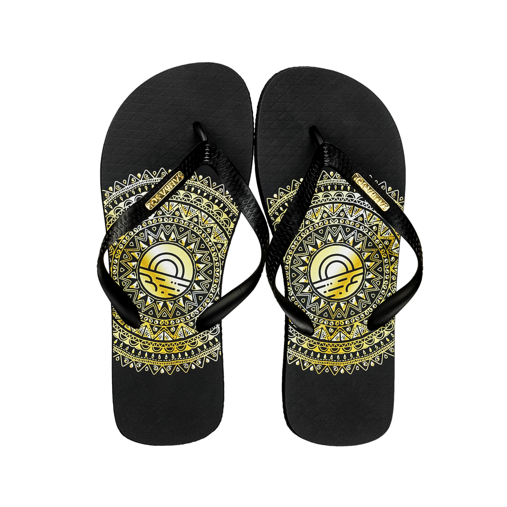 Samba Sol Men's Fashion Collection Flip Flops - Gold Medallion