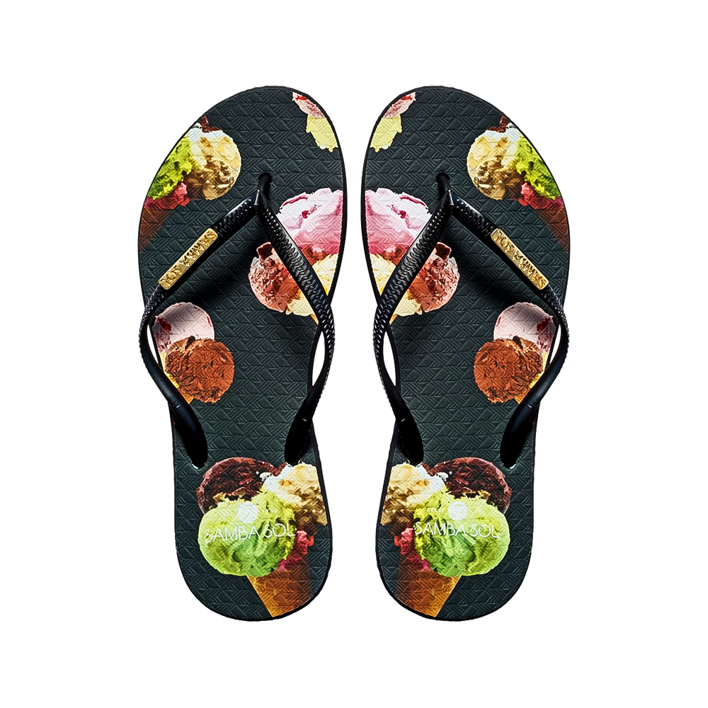 Women's Fashion Collection Flip Flops - Ice Cream