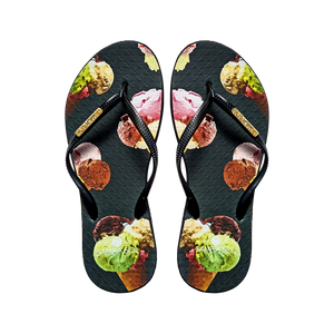 Samba Sol Women's Fashion Collection Flip Flops - Ice Cream-Samba Sol