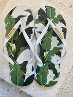 Banana Leaf White Strap