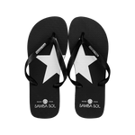 Samba Sol Men's Fashion Collection Flip Flops - Silver Star