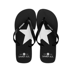 Men's Fashion Collection Flip Flops - Silver Star