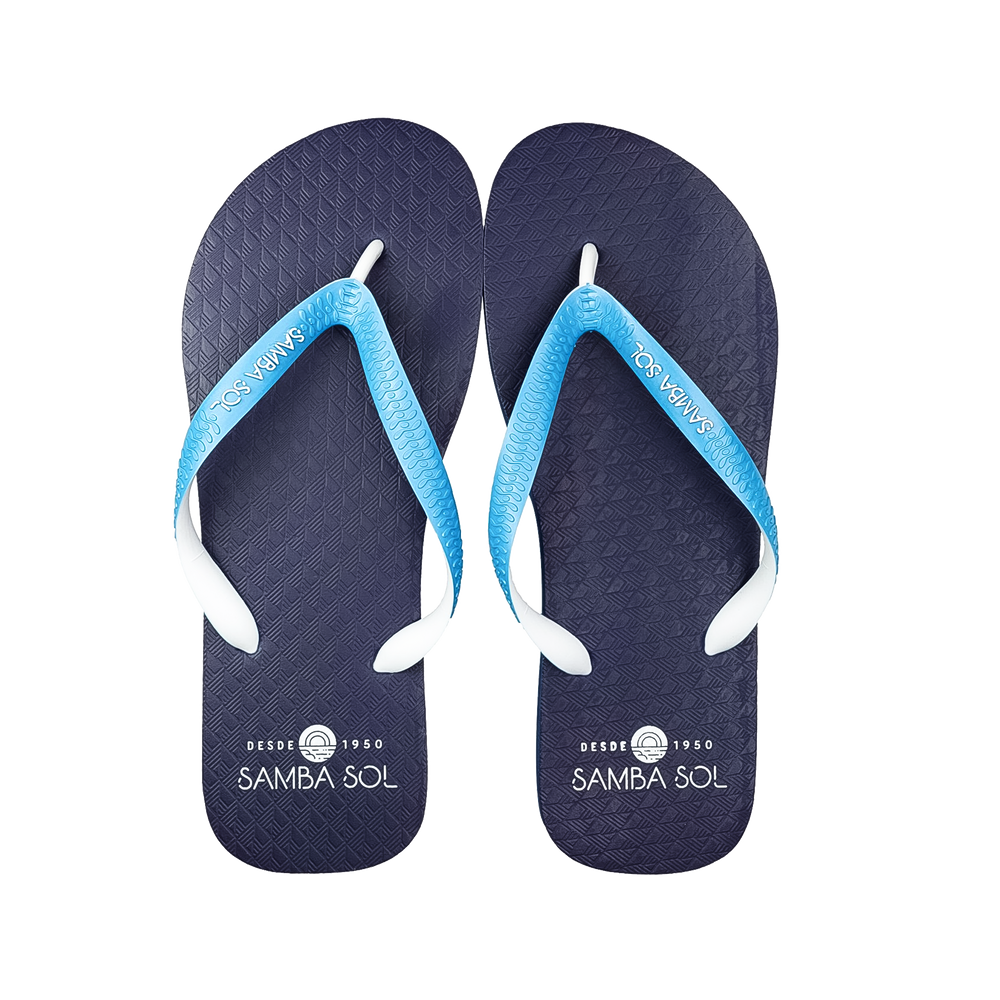 Samba Sol Men's Beach Collection Flip Flops - Blue