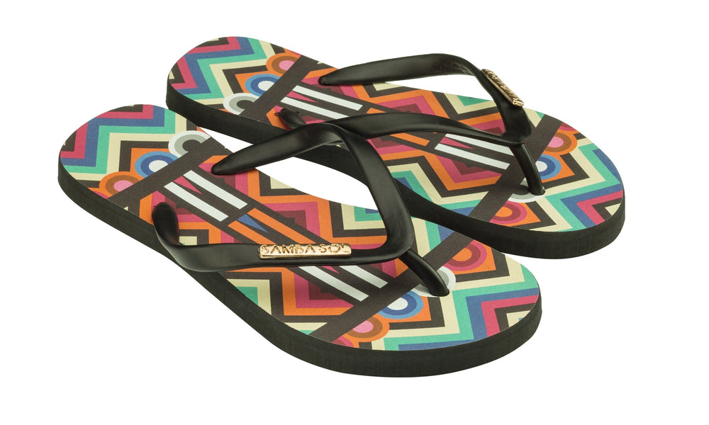 Samba Sol Kid's Fashion Collection Flip Flops - Tribal