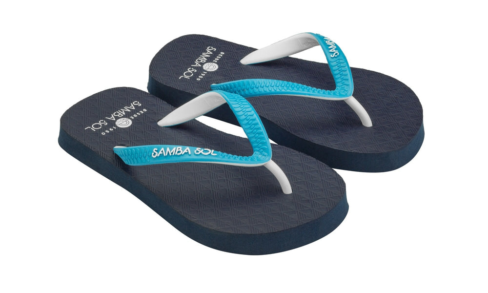 Samba Sol Kid's Beach Collection Flip Flops - Blue-Samba Sol