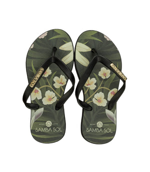 Samba Sol Kid's Fashion Collection Flip Flops - Flowers-Samba Sol