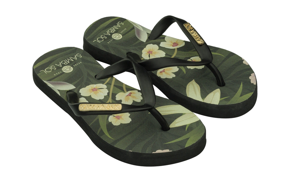 Samba Sol Kid's Fashion Collection Flip Flops - Flowers