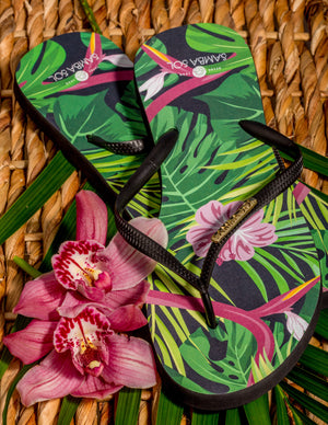 Women's Fashion Collection Flip Flops - Tropical
