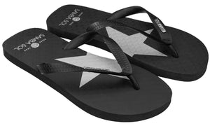 Samba Sol Men's Fashion Collection Flip Flops - Silver Star-Samba Sol