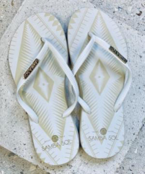 Samba Sol Women's Fashion Collection Flip Flops - Navajo