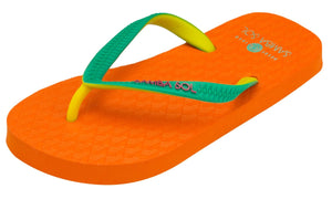 Samba Sol Kid's Beach Collection Flip Flops - Orange-Samba Sol