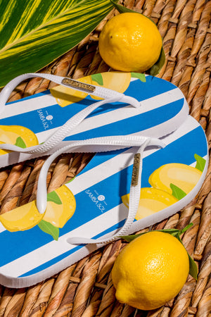 Women's Fashion Collection Flip Flops - Capri Lemon
